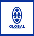 great global group logo vector image vector image