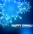 happy diwali fireworks vector image vector image