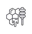 honey store line icon concept honey store vector image vector image