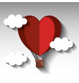 hot air balloon with heart shape vector image