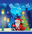 image with santa claus theme 8 vector image