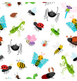 insects colorful pattern vector image vector image