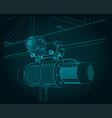jib crane electric chain hoist close-up vector image vector image