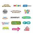 Label - School Icons vector image vector image