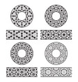 lace brushes templates and round decorations in vector image vector image
