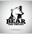 logo template with Roaring Bear for sport vector image vector image