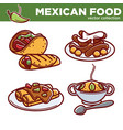 mexican food collection of tasty spicy vector image vector image