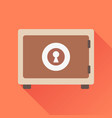 money safe icon in flat style on orange vector image vector image