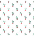 opuntia cactus pattern seamless vector image