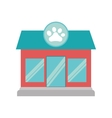 pet shop dog cat paw print facade vector image vector image