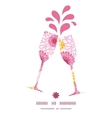 pink field flowers toasting wine glasses vector image vector image