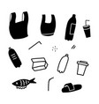 plastic garbage sea ocean river water pollution vector image vector image