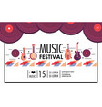 professional instruments to music festival event vector image vector image