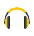 rap headset icon flat style vector image vector image