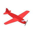 Red plane icon isometric 3d style vector image vector image