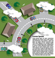 road intersection vector image vector image