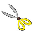 scissors hand drawn design on white background vector image vector image
