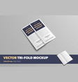set closed business trifolds on a gray vector image vector image