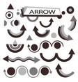 set for various design black arrows vector image vector image