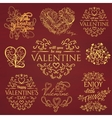 Set of Calligraphic Valentines Day design elements vector image