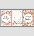 set templates with autumn leaves graphics vector image