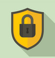 shield protect security icon flat style vector image