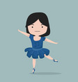 small girl exercising in ballet costume vector image