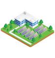 solar energy plant vector image