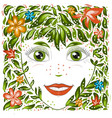 spring beautiful girl portrait girl spring vector image vector image