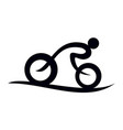 stylized bike race template vector image vector image