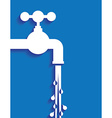 tap water and pipes vector image vector image