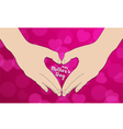 The hand make heart shape vector image vector image