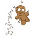 voodoo doll bones vector image vector image