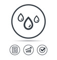 water drop icon rainy weather sign vector image vector image