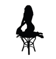 woman posing black silhouette vector image vector image