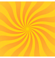 Yellow orange rays poster wavy vector image vector image