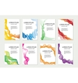 Abstract template set for brochures corporate vector image