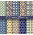 Classic different seamless patterns tiling vector image