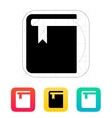 Book with bookmark icon vector image