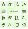 14 bathroom icons vector image vector image