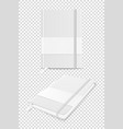 3d realistic white closed blank paper vector image vector image