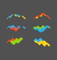 abstract financial chart set abstract waving vector image vector image