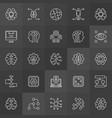 ai icons collection - artificial vector image vector image