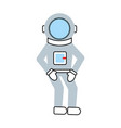 astronaut comic character icon vector image