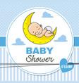 baby shower boy vector image vector image
