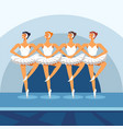 ballet women dancing on theater stage vector image
