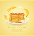 banana and pancake recipe with pictures bananas vector image