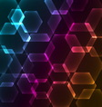 Bokeh blur with hexagons background vector image