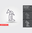breast pump line icon with editable stroke with vector image