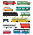 bus public transport tour or city vehicle vector image vector image